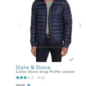 Slate and stone puffer XL